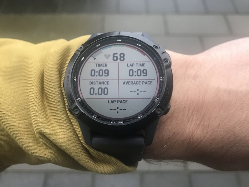 garmin fenix 6 - 6 data fields