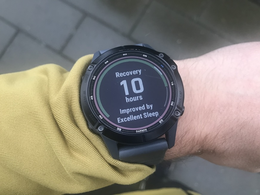garmin recovery time